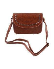 Brown Pu Leather Small Handbag
