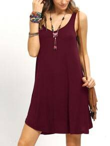 Burgandy Swing Tank Dress