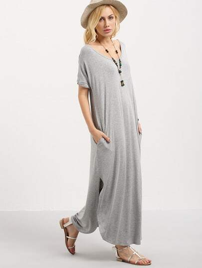 http://www.shein.com/Grey-Short-Sleeve-Pocket-Split-Side-Dress-p-287157-cat-1727.html?aff_id=1285