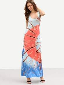Multicolor Printed Long Tank Dress
