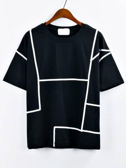 Contrast Binding T-shirt