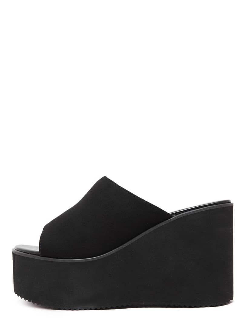 Black Peep Toe Faux Suede WedgesBlack Peep Toe Faux Suede Wedges<br><br>color: Black<br>size: EUR35,EUR36,EUR37,EUR38,EUR39