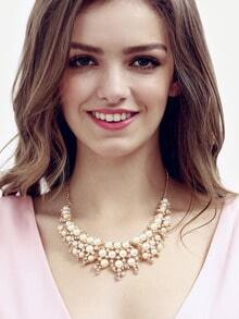 Multilayer Pearl Chain Necklace