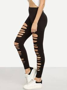 Black Ripped Stretchy Skinny Pants