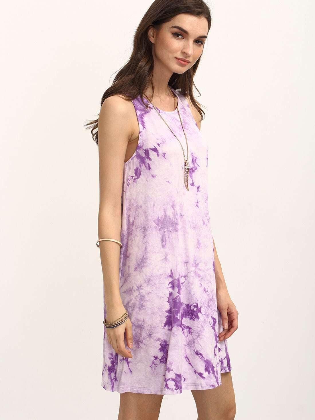 Фото Multicolor Ikat Print Sleeveless Shift Dress. Купить с доставкой