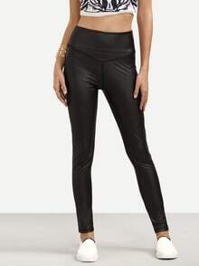 Black Casual Skinny Pants