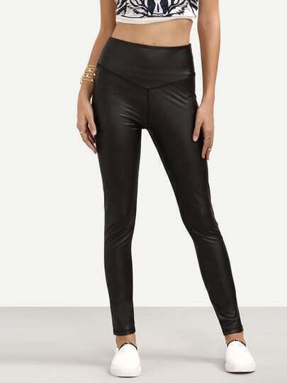 Black Casual Skinny Pants