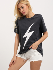 Lightning Bolt Print Tee