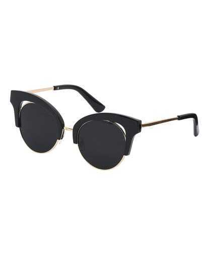 Black Frame Black Cat Eye Lenses Sunglasses