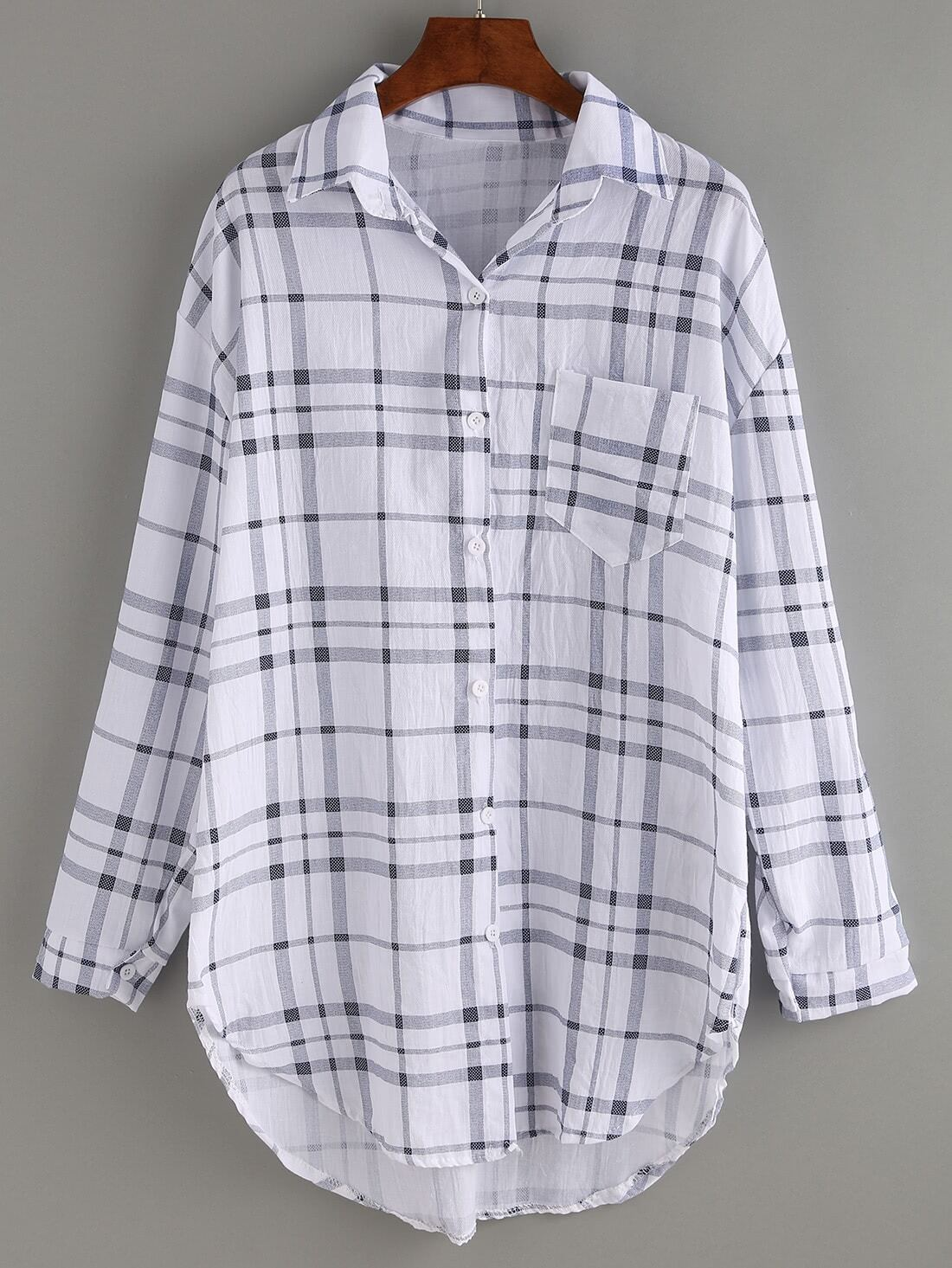 Zelda Front Pocket Plaid Blouse 91