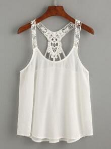 White Lace Crochet Cami Top