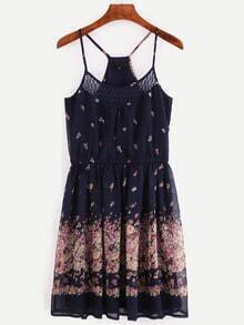 Multicolor Floral Spaghetti Strap Dress