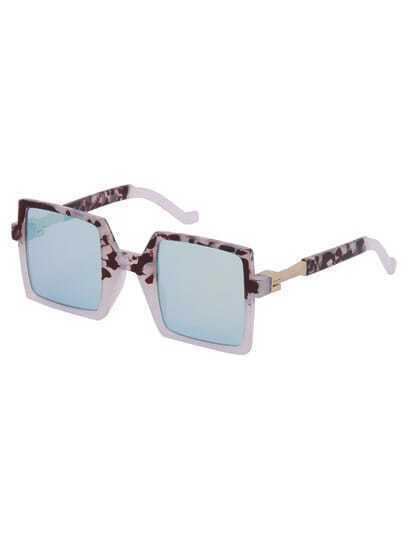 Модные голубые квадратные солнечные очки