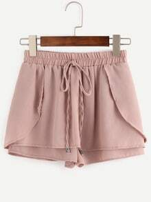 Drawstring Waist Layered Shorts