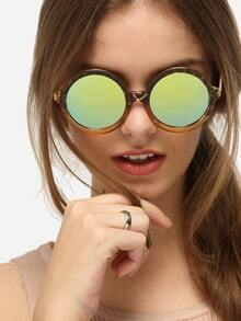 Multicolor Frame Round Lenses Sunglasses