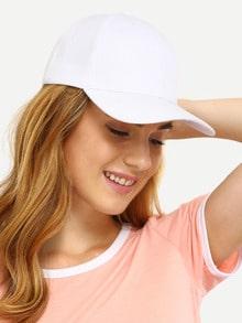 White Simple Baseball Cap