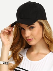 Gorra de béisbol simple -negro