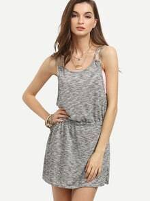 Grey Drop Armhole Cami Dress With Bandeau