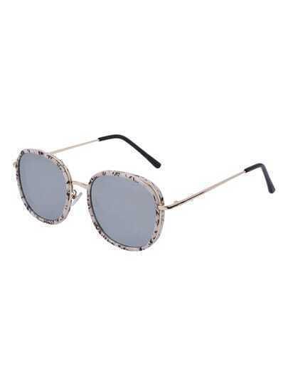 Fashionable Round Lenses Reflective Sunglasses