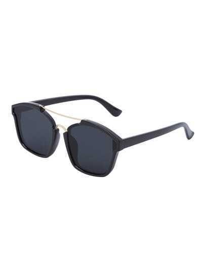 Black Fashionable Reflective Sunglasses