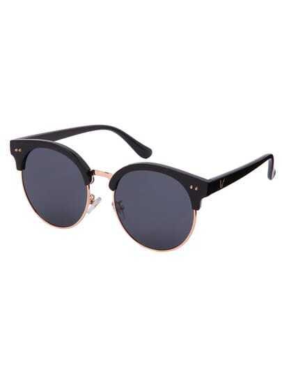 Round Lenses Reflective Sunglasses