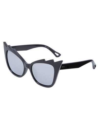 Black Fashionable Cat Eye Lenses Sunglasses