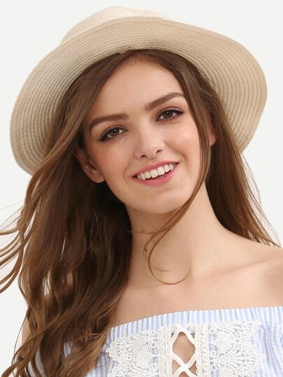 Cream Bow Decorated Beach Hat