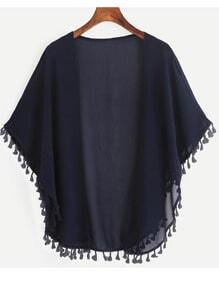 Kimono en mousseline avec franges