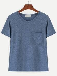 Slub T-shirt With Chest Pocket