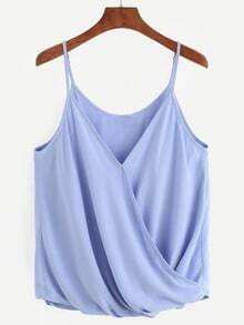 Pale Blue Wrap Front Cami Top