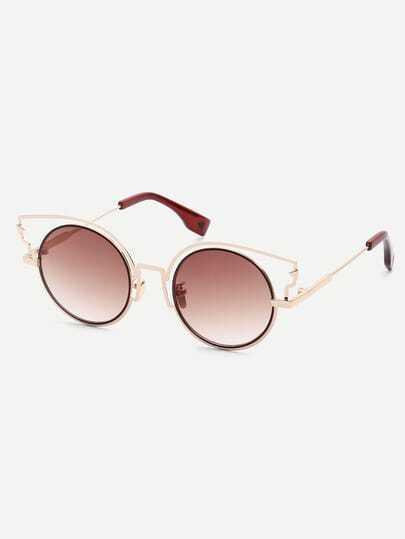 Golden Round Lenses Sunglasses