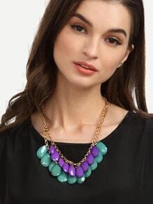 Dual-layer Gemstone Pendant Necklace