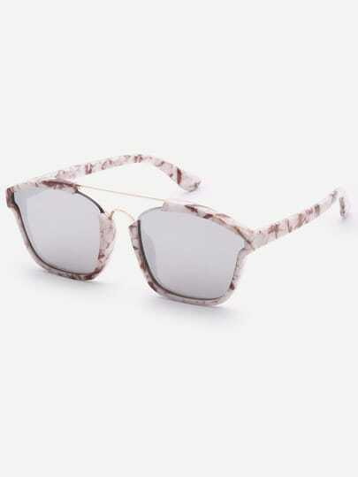Brow-bar Square Sunglasses