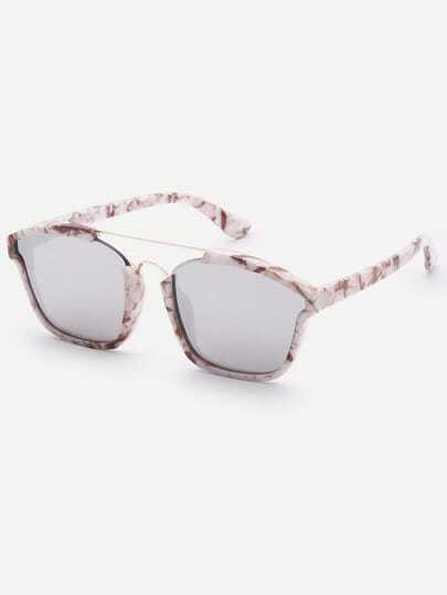 Brow-bar Square Sunglasses