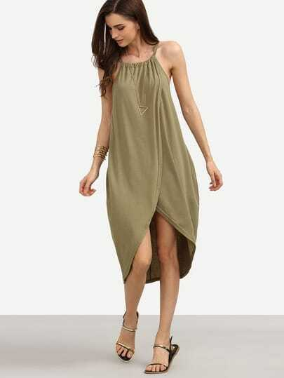 Overlap Tea Length Dress