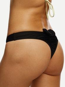 Bow Back Ruched Bikini Bottom