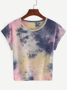 Color Block Tie-dye T-shirt