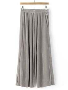 Grey Micro Cropped Pockets High Waist Pants