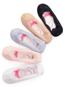 Calcetines antideslizantes de encaje -color al azar