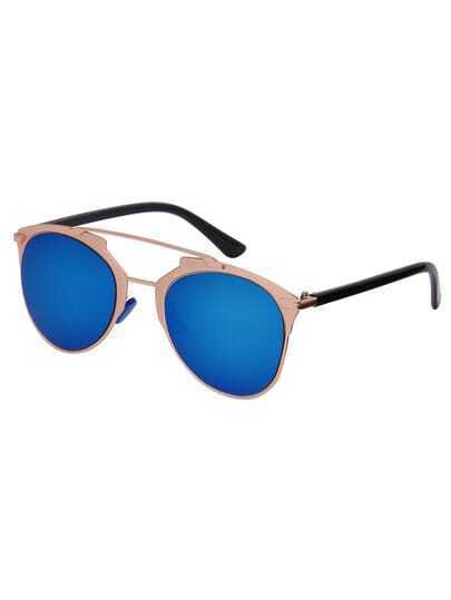 Metal Frame Cat-eye Brow-line Polarized Sunglasses