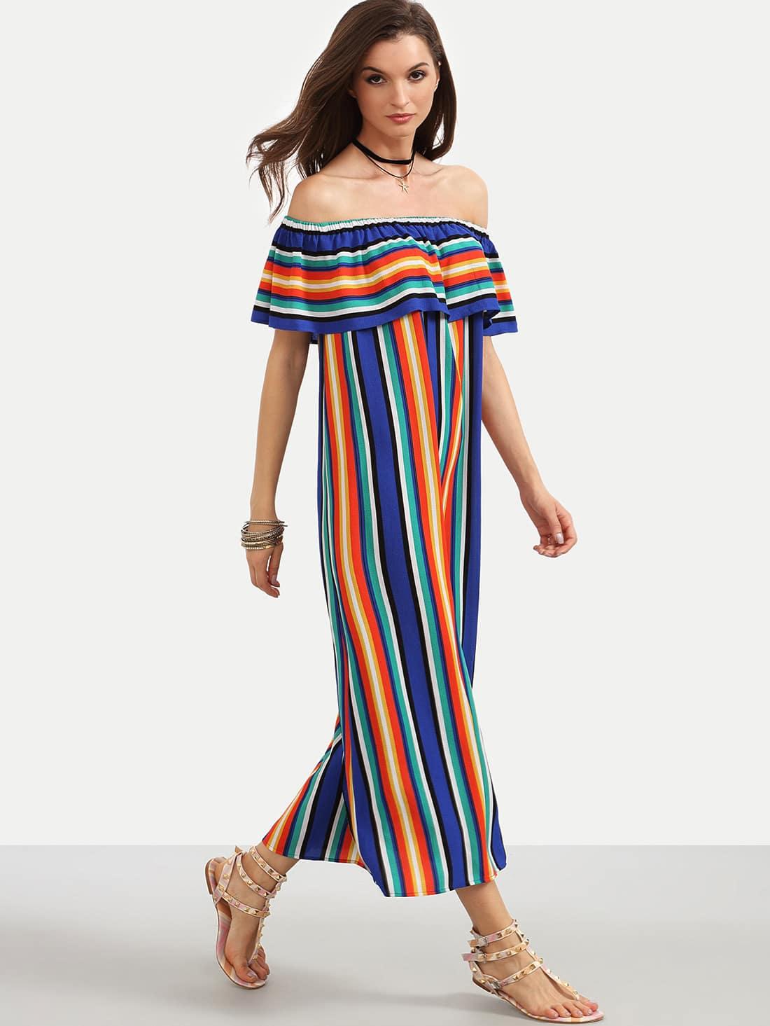 Фото Flounce Layered Neckline Swing Dress. Купить с доставкой