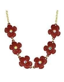 Flower Statement Collar Necklace