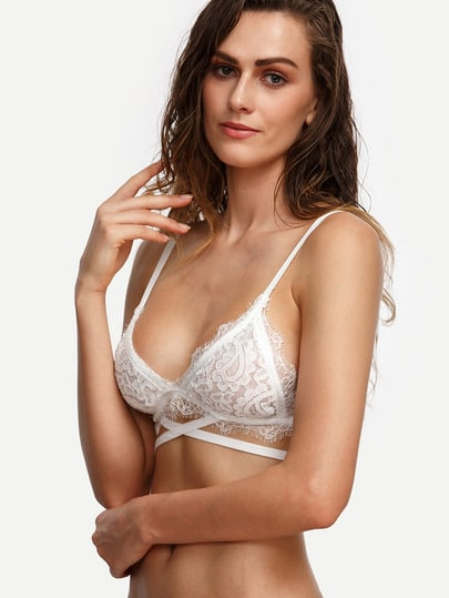 Crisscross Lace Triangle Bralet