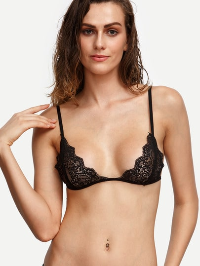 Scalloped Lace Triangle Bralet