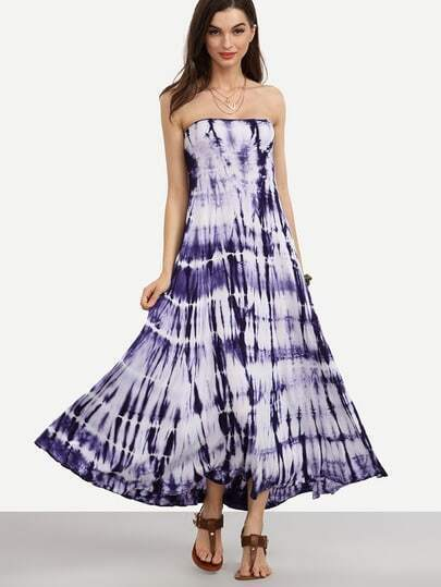 Tie-dye Strapless Dress & Skirt