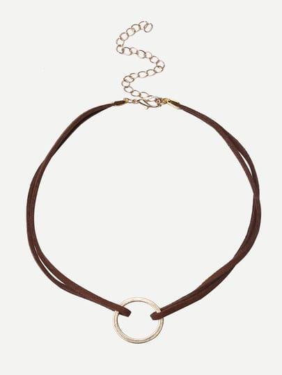 Brown Geometric Minimalist Necklace