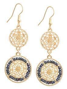 Hollow Filigree Beads Drop Earrings