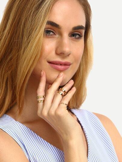 Golden Minimalist Ring Set - 3PCS