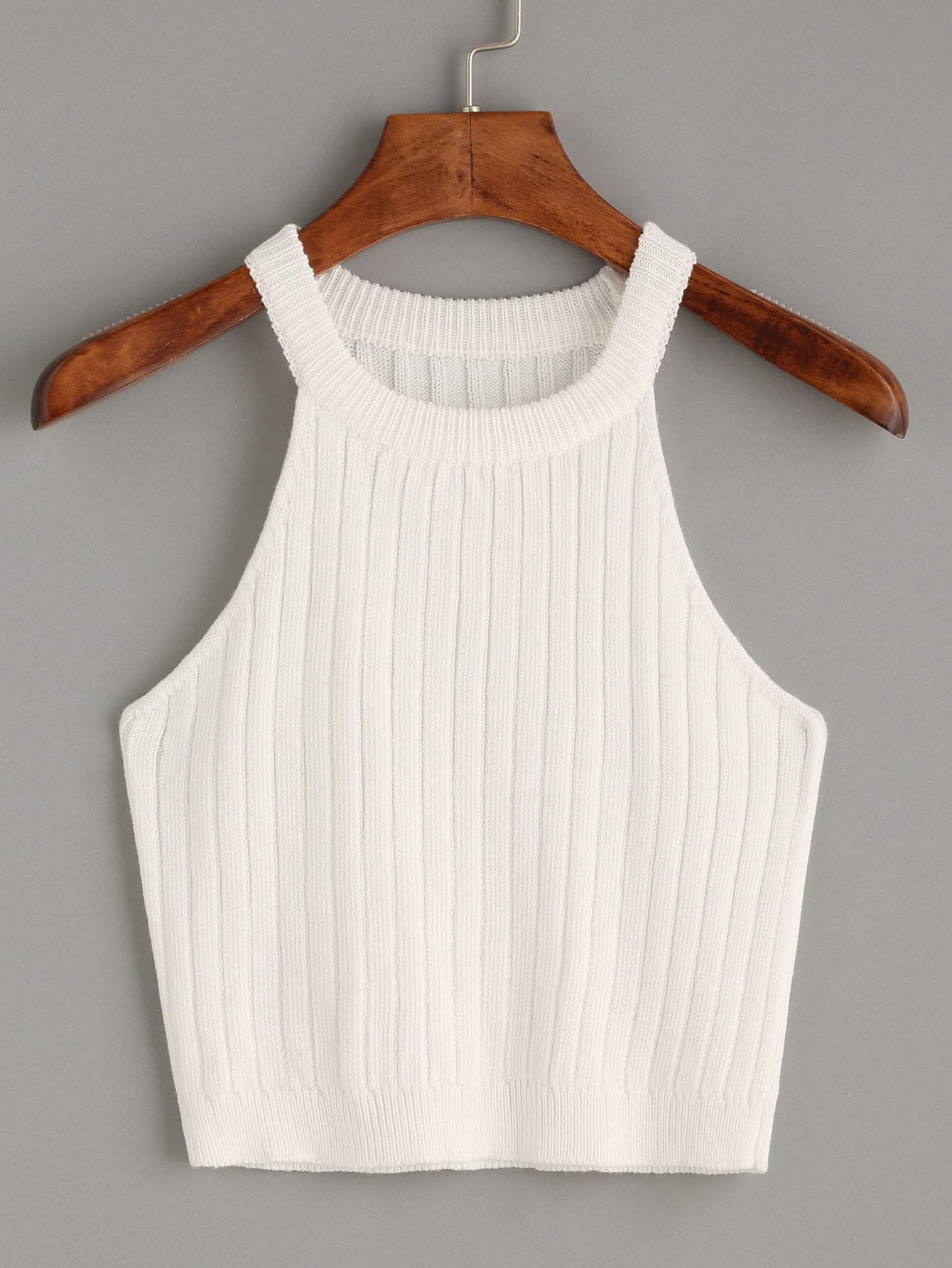 Knitted Rib Tank Top vest160623529