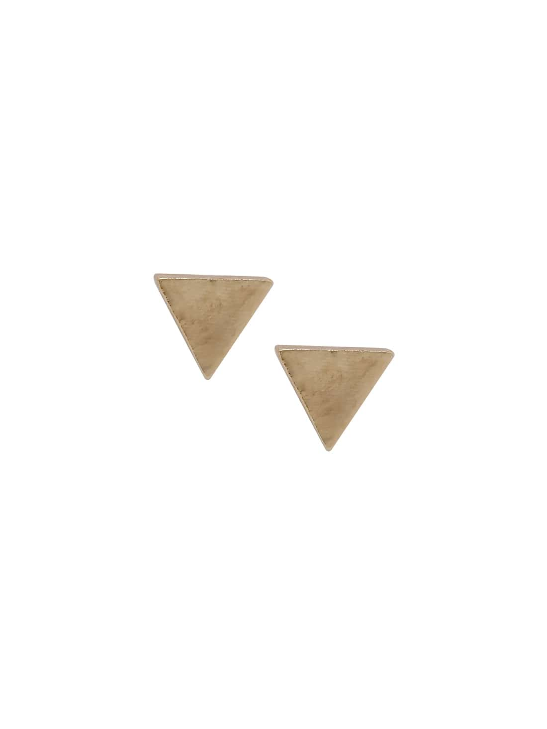 Golden Minimalist Triangle Ear Studs